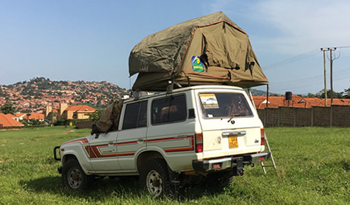 Rooftop Tent in Tanzania